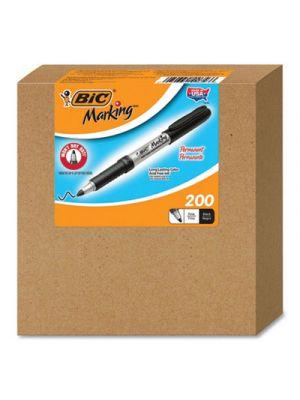 Marking Permanent Marker, Fine Bullet Tip, Black, 200/CT