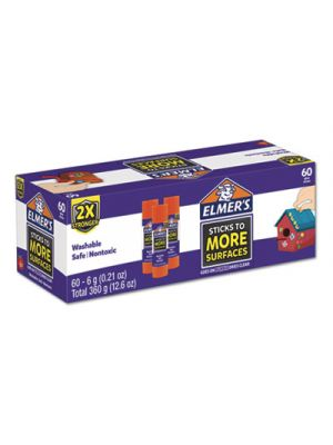 Extra-Strength School Glue Sticks, 0.21 oz, Purple/Clear, 60/Carton