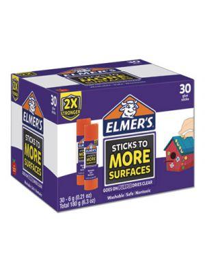 Extra-Strength School Glue Sticks, 0.21 oz, Purple/Clear, 30/Carton