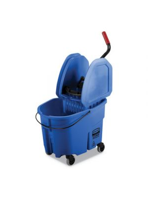 WaveBrake 2.0 Bucket/Wringer Combos, 35 qt, Down Press, Plastic, Blue