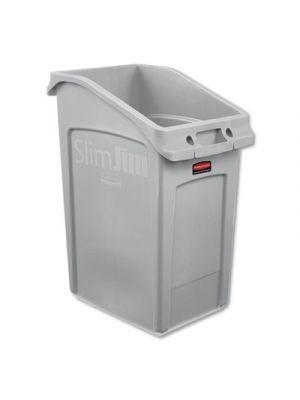 Slim Jim Under-Counter Container, 23 gal, Polyethylene, Gray