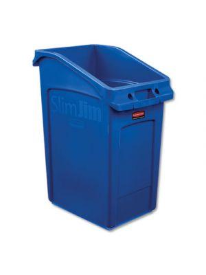 Slim Jim Under-Counter Container, 23 gal, Polyethylene, Blue