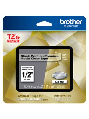 TZe Premium Laminated Tape, 1/2