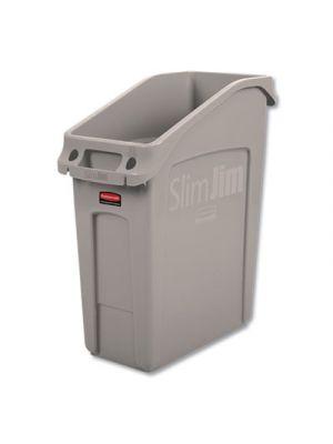 Slim Jim Under-Counter Container, 13 gal, Polyethylene, Beige