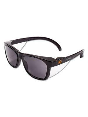 Maverick Safety Glasses, Black, Polycarbonate Frame, Smoke Lens