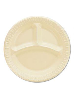 Quiet Classic Laminated Foam Dinnerware, Compartment Plate, 9