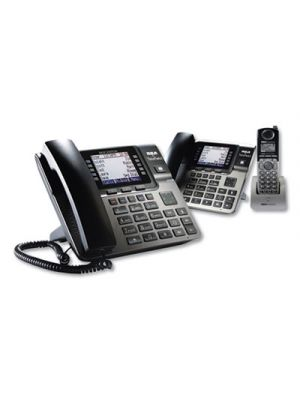 Unison 1-4 Line Wireless Phone System Bundle, w/ 1 Deskphone, 1 Cordless Handset