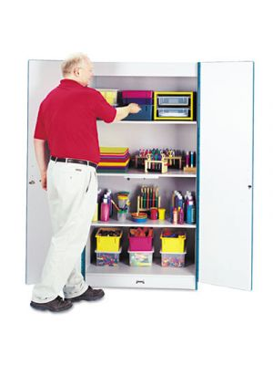 Rainbow Accents Deluxe Classroom Closet, 36w x 24d x 72h, Blue/Gray