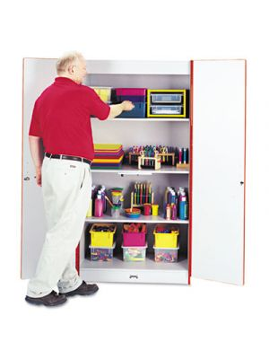 Rainbow Accents Deluxe Classroom Closet, 36w x 24d x 72h, Red/Gray
