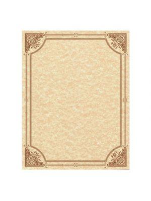 Parchment Certificates, Vintage, 8 1/2 x 11, Copper, Copper Border, 50/Pack