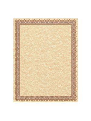 Parchment Certificates, Vintage, 8 1/2 x 11, Copper, Burgundy/Gold Border, 50/PK