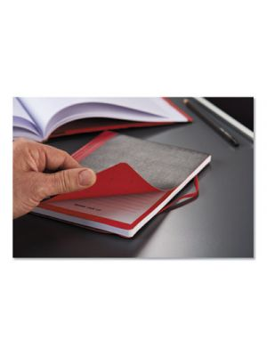 Flexible Casebound Notebooks, Legal, Black/Red Cover, 11 3/4 x 8 3/8, 72 Pages