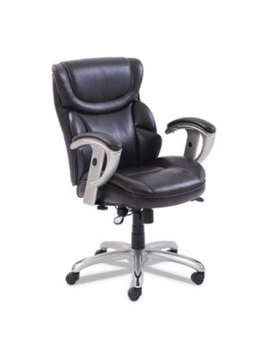 Emerson Task Chair, 21 1/4w x 19 3/4d x 21 3/4h Seat, Brown Leather