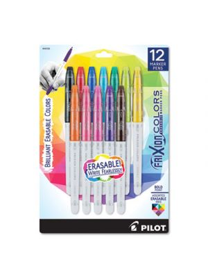 FriXion Colors Erasable Stick Marker Pen, 2.5mm, Assorted Ink & Barrel, 12/Set