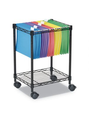 Compact Rolling File Cart, 15 1/4w x 12 3/8d x 21h, Black