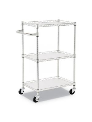 3-Shelf Wire Cart with Liners, 28 1/2