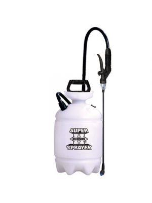 Acid-Resistant Sprayer, Wand w/Nozzle, 2gal, Polyethylene, Orange/Black