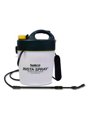 Portable Battery-Powered Sprayer w/Telescoping Wand, 1.3 Gallon, Black/White