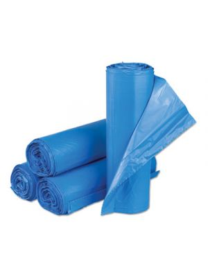 Interleaved High-Density Can Liners, 30 x 43, 33 gal, 14mic, Blue, 250/CT
