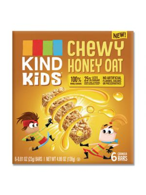 Kids Bars, Chewy Honey Oat, 0.81 oz, 6/Pack