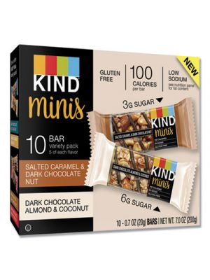 Minis, Salted Caramel and Dark Chocolate Nut/Almond/Coconut, 0.7 oz, 12/Pack