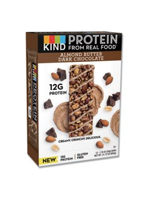 Protein Bars, Almond Butter Dark Chocolate, 1.76 oz, 12/Pack
