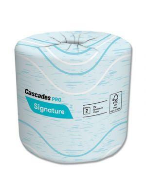 Signature Bath Tissue, 2-Ply, 4 x 4, White, 400/Roll, 48 Rolls/Carton