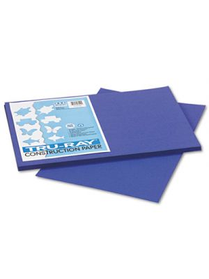 Tru-Ray Construction Paper, 76 lbs., 12 x 18, Royal Blue, 50 Sheets/Pack