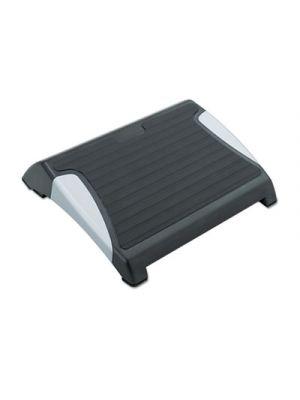 Restease Adjustable Footrest, 15-1/2w x 13-3/4d x 3-1/4 to 5h, Black/Silver