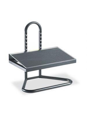 Task Master Adjustable Height Footrest, 20w x 12d x 5 1/2h-15h, Black