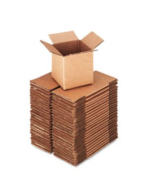Brown Corrugated - Deluxe Cubed Fixed-Depth Shipping Boxes, 4l x 4w x 4h, 25/BD