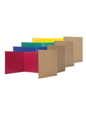 Flipside Study Carrel, 18 x 48 Inches, Assorted Colors, Pack of 24