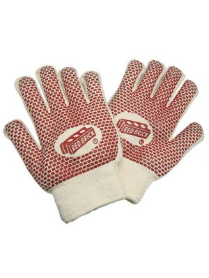 Red Brick Gloves, Red/White, Large