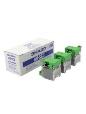 Sharp AR-SC3 (ARSC3) Saddle Stitch Staple Cartridge, Box of 3 ctg.