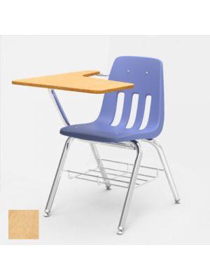9700 Series Chair Desk, 18-3/4w x 31d x 30-1/2h, Fusion Maple/Blueberry, 2/CT